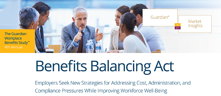 Cover image of Guardian's workplace benefits study - benefits balancing act.